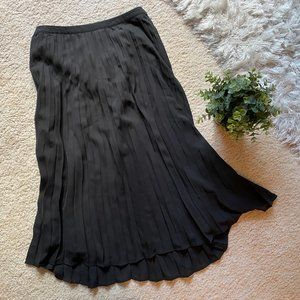 NWT Black Pleated Midi Skirt Christopher & Banks